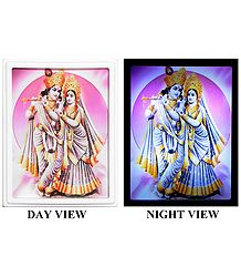 Radha Krishna Plug-on Night Lamp with Adaptor