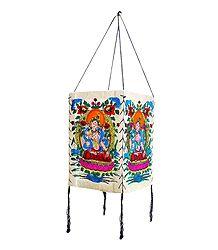 Hanging Foldable Handmade Printed Paper Lampshade