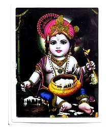 Makhan Chor Krishna Plug-on Night Lamp with Adaptor
