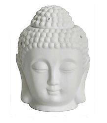 White Buddha Head Lampshade and Diffuser with Adapter