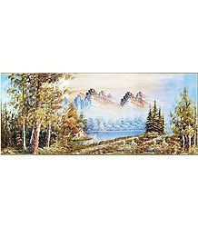 View of the Mountains - Paper Poster
