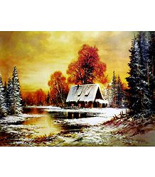 Winter in Countryside - Landscape Poster