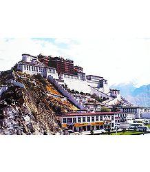 Lhasa Palace in Tibet - Poster