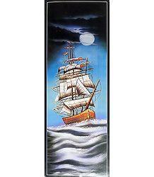 Moonlit Sea Voyage