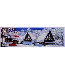 Snowfall in Japan