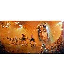 Majnu Pining For Laila - Poster