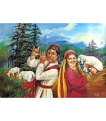 Himachali Couple