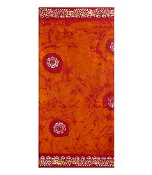 Dark Saffron Batik Cotton Lungi