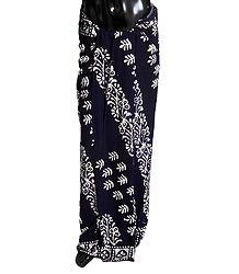 Buy Online Batik Print on Dark Blue Cotton Lungi