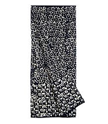 Black and White Batik Cotton Lungi for Men