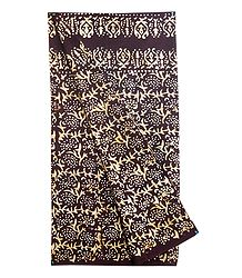 Brown with Off-White Batik Cotton Lungi
