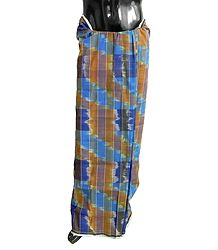 Check Cotton Lungi with Ikkat Design