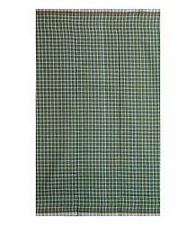 Green and White Check Cotton Lungi
