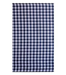 Blue with White Check Cotton Lungi