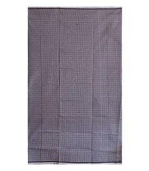 Brown and White Small Check Cotton Lungi