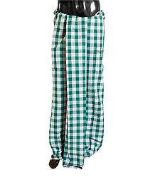 Cyan Blue with White Check Cotton Lungi