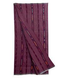 Cotton Lungi with ikkat Design on Maroon stripe