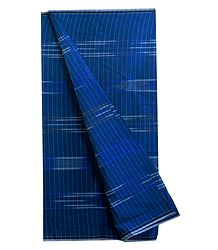 White Stripe on Blue Cotton Lungi