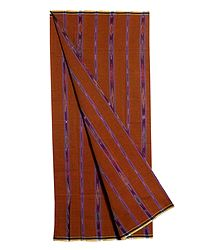 Saffron Cotton Lungi with ikkat Design