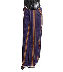 Cotton Lungi with ikkat Design