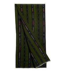 Moss Green Ikkat Cotton Lungi