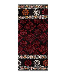 Black with Red Batik Cotton Lungi