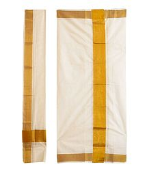 Cotton Kerala Lungi and Chadar