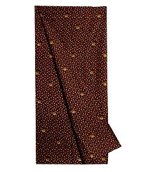 Print on Black Cotton Lungi