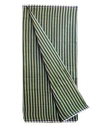 Dark Green with Light Green Stripe Cotton Lungi