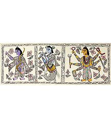 Avataras of Vishnu - Madhubani Folk Art
