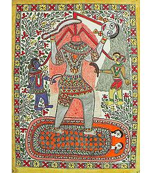 Chhinnamasta Kali - Madhubani Folk Art