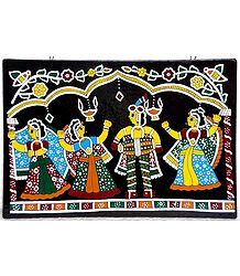 Dancing in Diwali  - Wall Hanging