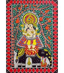 Lord Ganesha Standing on Elephant