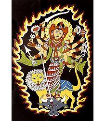 Goddess Durga - Tikuli Painting