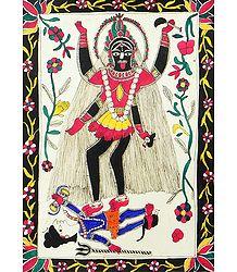 Goddess Kali - Madhubani Folk Art