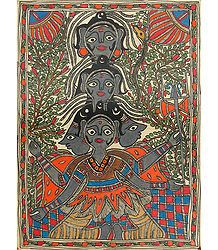 Buy Panchmukhi Shiva - Madhubani Folk Art