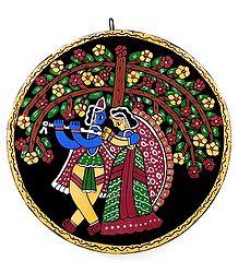 Radha Krishna -Tikuli Painting