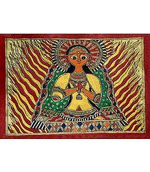 Sita's Agnipariksha - Madhubani Folk Art