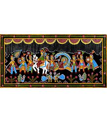 Marriage Procession  - Tikuli Painting