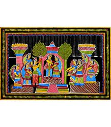 Marriage Ceremony - Tikuli Painting