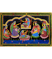 Girls in a Playful Mood - Tikuli Painting