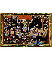 Women Doing Daily Chores  - Wall Hanging