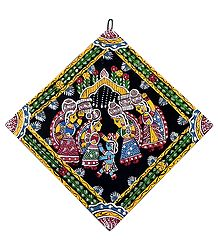 Bal Gopal with Gopinis - Wall Hanging