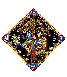 Radha Krishna Under Kadamba Tree - Wall Hanging