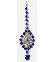 Faux Lazulite Studded Mang Tika