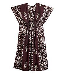 Batik Print on Cotton Kaftan