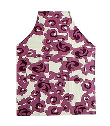 Printed Cotton Apron with Pockets