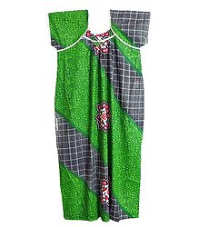 Printed Green Cotton Maxi