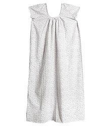 Printed White Cotton Maxi
