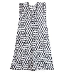 Black and White Print on Cotton Maxi